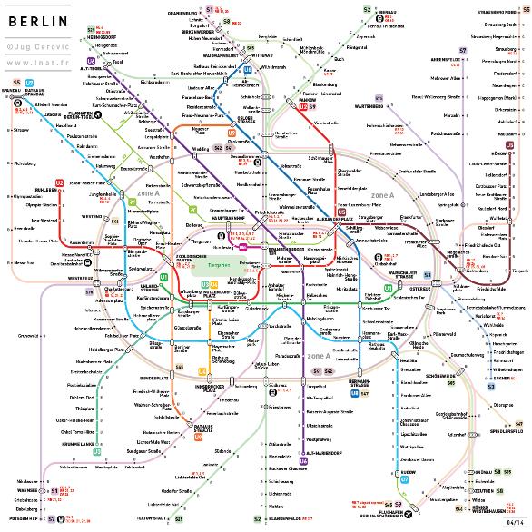 Neugestaltung des Berliner Streckenplans