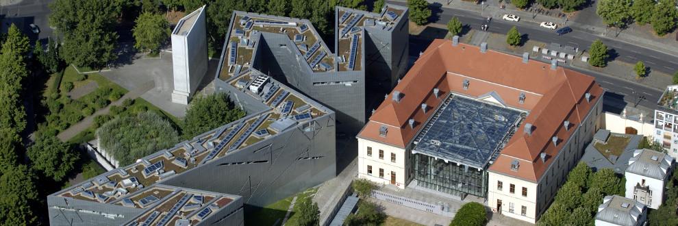 Luftaufnahme des Jüdischen Museums Berlin